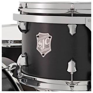 SJC Drums Tour Series 5 Piece Shell Pack , Black Stain, Chrome HW