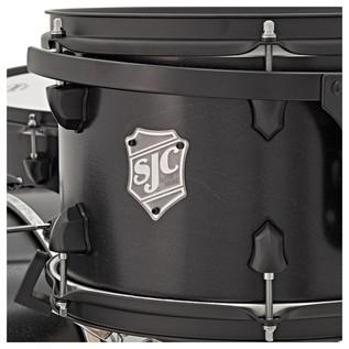 SJC Drums Tour Series 5 Piece Shell Pack, Black Stain, Black HW
