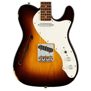 Fender Custom Shop LTD 50s Thinline Tele, Wide Faded 2-Color Sunburst