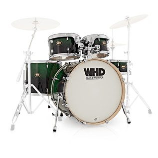 WHD Birch 5 Piece Short American Fusion Shell Pack, Green Fade
