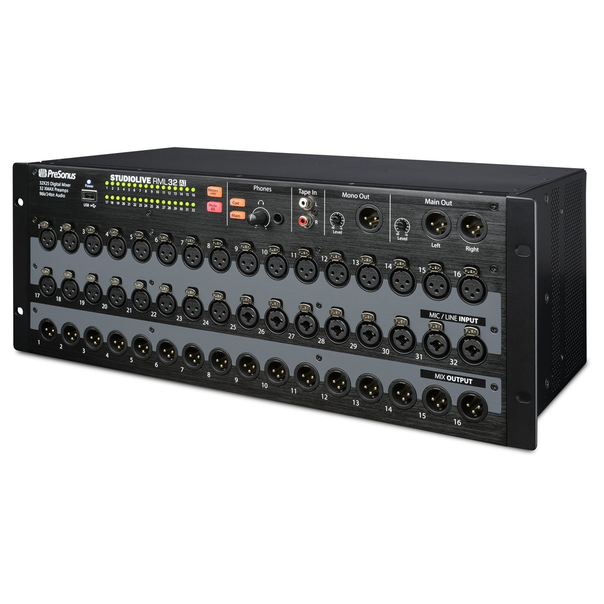 presonus studiolive rml32ai rack mount digital mixer at
