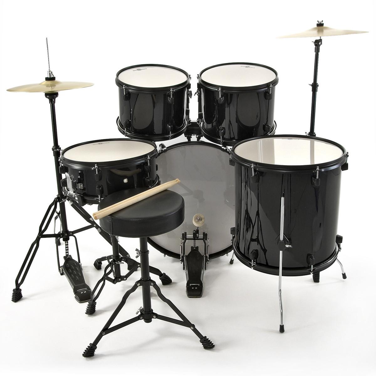 bdk 1 full size starter drum kit by gear4music black b stock at. Black Bedroom Furniture Sets. Home Design Ideas