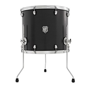 SJC Drums Tour Series 18x16 Add-on Tom, Black, Chrome HW