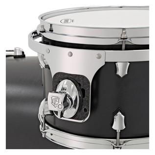 SJC Drums Tour Series 4 Piece Shell Pack, Black Stain, Chrome HW