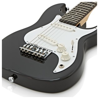 Greg Bennett Malibu MMB-1 Mini Electric Guitar, Black