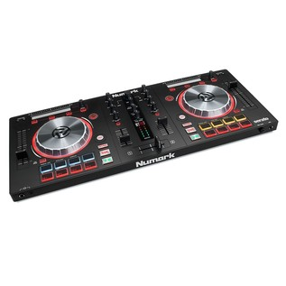 Numark Mixtrack Pro 3 with Upgrade to Serato DJ - Angled