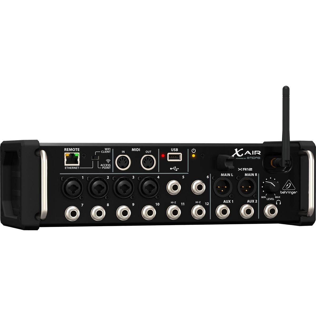 Behringer x air xr12 12 canaux console de mixage num rique bo te ouverte - Console numerique behringer ...