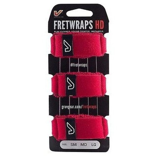 Gruv Gear FretWraps HD Fire 3-Pack Red, Medium