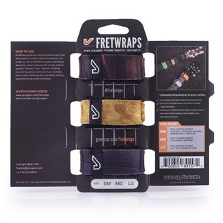 Gruv Gear FretWraps Wood 3-Pack Prints, Medium