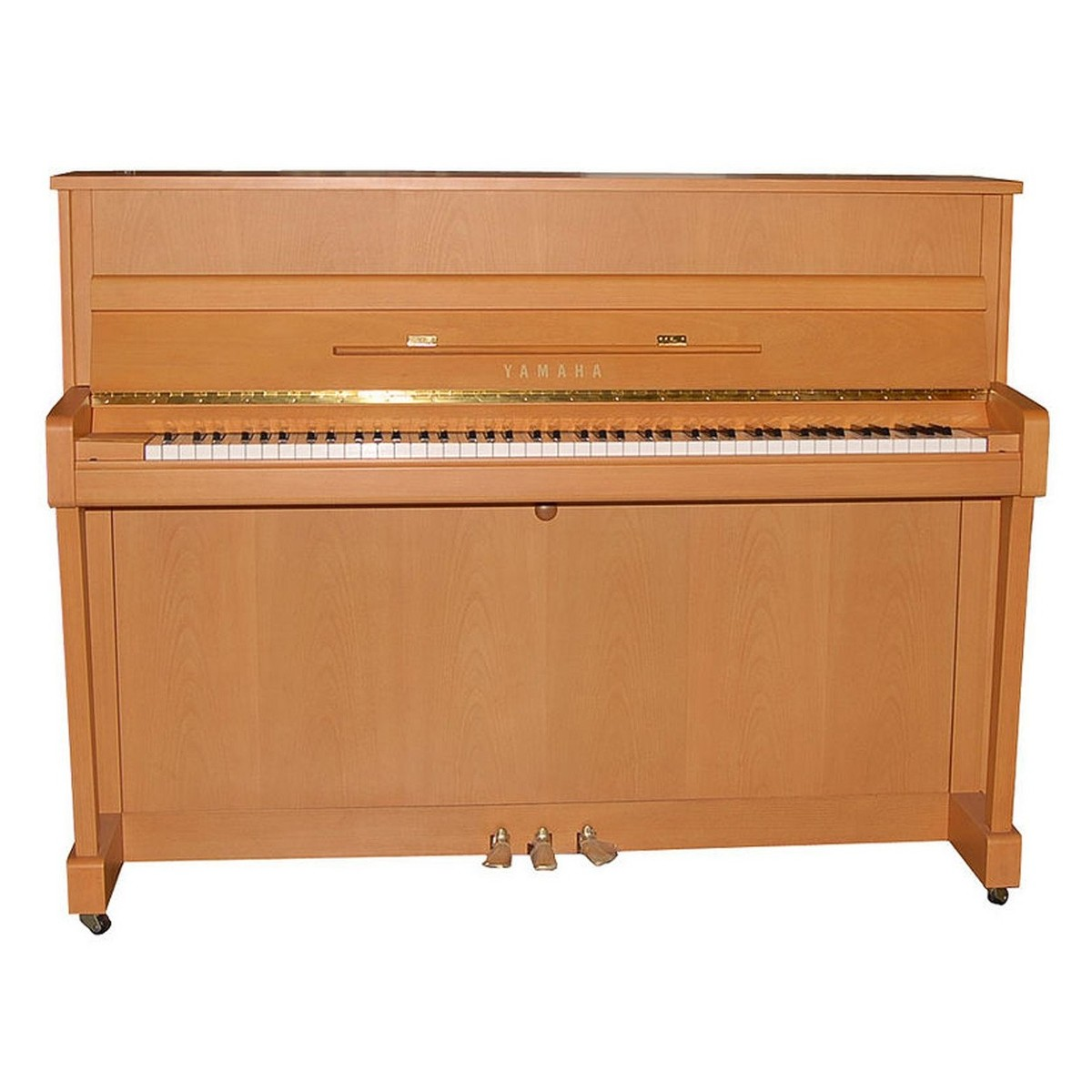 Yamaha b1 upright acoustic piano natural beech satin at for Yamaha acoustic pianos