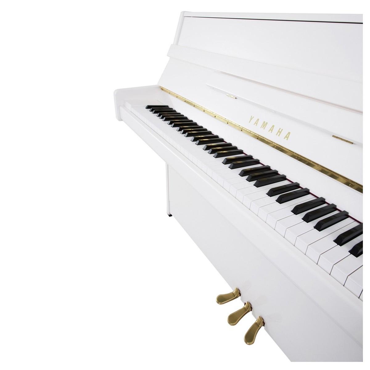 Yamaha b1 upright acoustic piano polished white at for Yamaha acoustic pianos