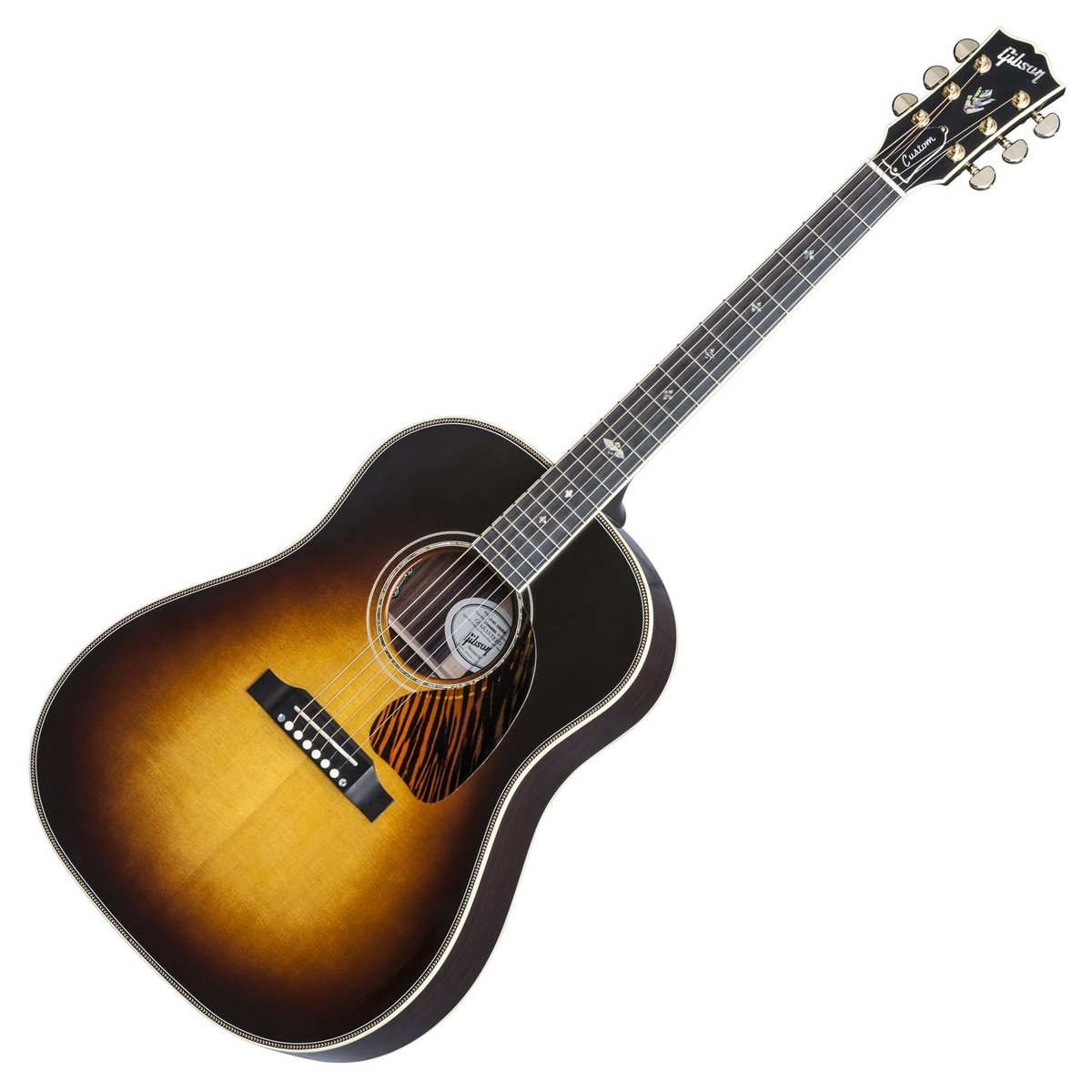 gibson j 45 custom electro acoustic guitar vintage sunburst 2017 at. Black Bedroom Furniture Sets. Home Design Ideas