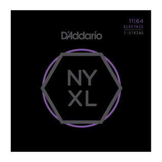 D'Addario NYXL 7-String Nickel Wound Medium, 11-64