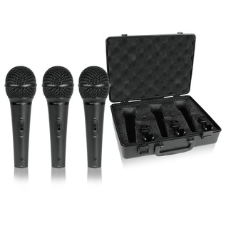 Behringer XM1800S Ultravoice Dynamic Microphone, 3 Pack