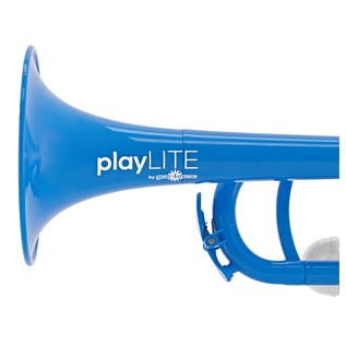 playLITE Hybrid Trumpet by Gear4music, Blue