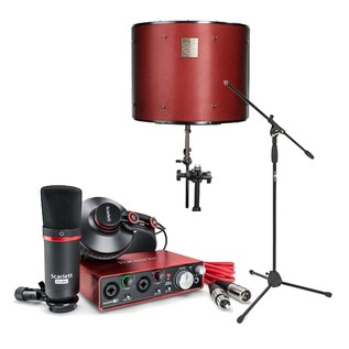 Focusrite Scarlett 2i2 Studio MKII with LTD sE Reflexion Filter Pro