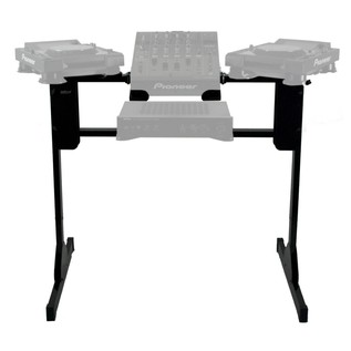 Sefour X25 Turntable Stand, Black - Front (DJ Equipment Not Included)