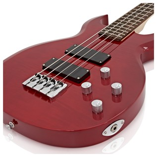 New Jersey Bass Guitar by Gear4music, Trans Red