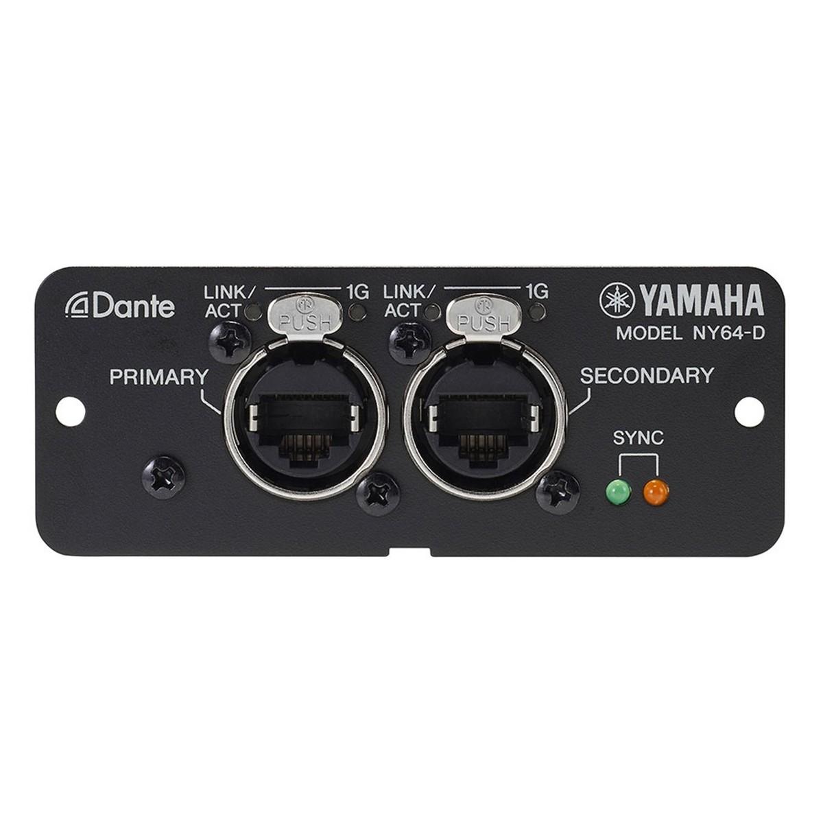 yamaha ny64 dante expansion card for tf series mixers at