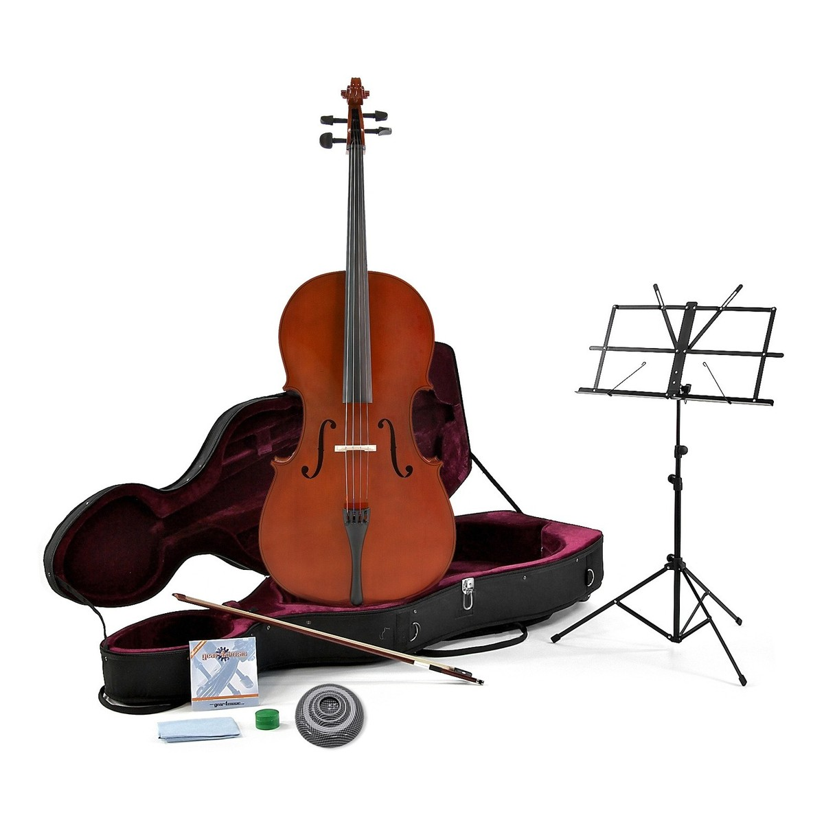 Image of 4/4 Size Cello with Case + Beginner Pack