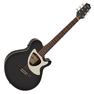 Deluxe Thinline Electro Acoustic Guitar by Gear4music, Black