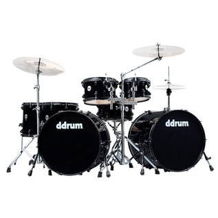 DDrum 7 Piece JourneyMan Double Bass Drum Kit w/ Hardware, Black