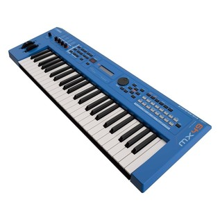 Yamaha MX49 II with Stand and Headphones, Blue - Angled