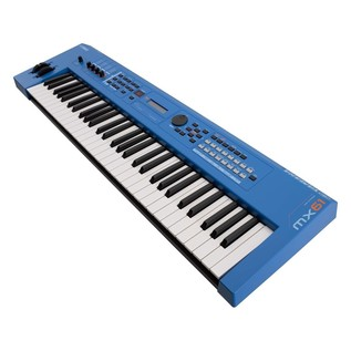 Yamaha MX61 II with Stand and Headphones, Blue - Angled