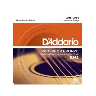 D' Addario Set Resophonic Guitar 16-56