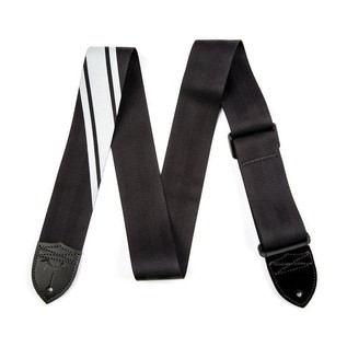 Fender Competition Stripe Guitar Strap, Black and Silver