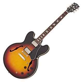 Gibson Memphis 2016 ES-335 Satin Hollowbody Guitar, Sunset Burst