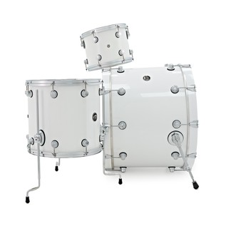 DW Drums Performance Series, 24 3 Piece Shell Pack, White Ice