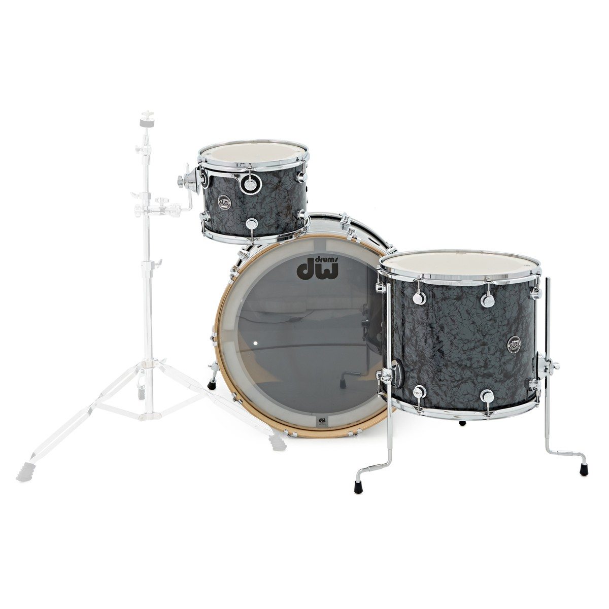 dw drums performance series 24 3 piece shell pack black diamond at. Black Bedroom Furniture Sets. Home Design Ideas