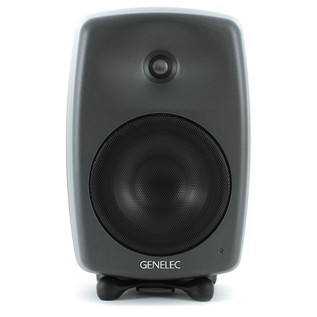Genelec 8040B Bi-Amped Studio Monitor, Dark Grey (Single) - Front