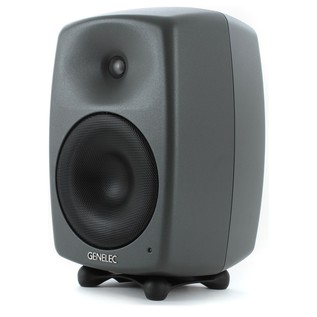 Genelec 8040B Bi-Amped Studio Monitor, Dark Grey (Single) - Angled