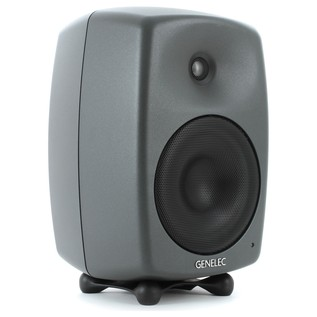 Genelec 8040B Bi-Amped Studio Monitor, Dark Grey (Single) - Angled 2