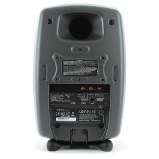 Genelec 8040B Bi-Amped Studio Monitor, Dark Grey (Single) - Rear