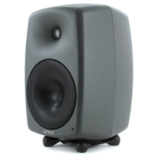 Genelec 8050B Bi-Amped Studio Monitor, Dark Grey (Single) - Angled 2
