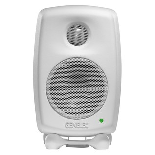 Genelec 8020C Bi-Amped Studio Monitor, White (Single) - Front