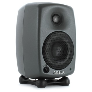 Genelec 8020C Bi-Amplified Studio Monitor, Dark Grey (Single) - Angled