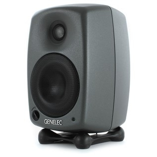 Genelec 8020C Bi-Amplified Studio Monitor, Dark Grey (Single) - Angled 2