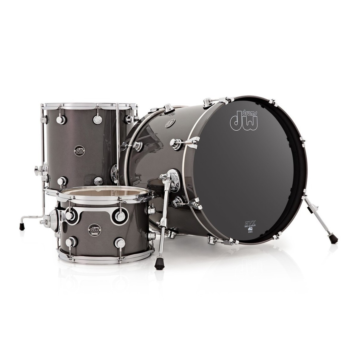 dw drums performance series 22 3 piece shell pack gun metal at. Black Bedroom Furniture Sets. Home Design Ideas
