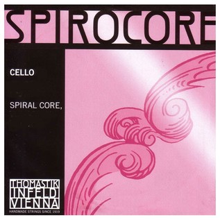Thomastik Spirocore 4/4 Cello D String, Chrome Wound
