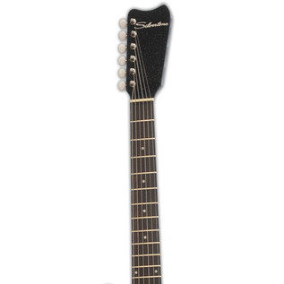 Silvertone 1449 Electric Guitar, Black Silver Flake