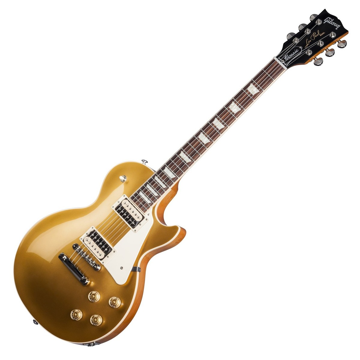 gibson les paul classic t electric guitar gold top 2017 at. Black Bedroom Furniture Sets. Home Design Ideas