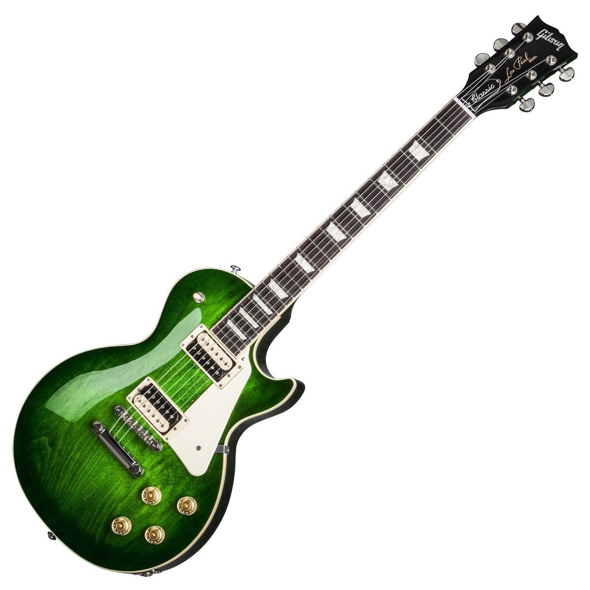 gibson les paul classic t electric guitar green ocean burst 2017 at. Black Bedroom Furniture Sets. Home Design Ideas