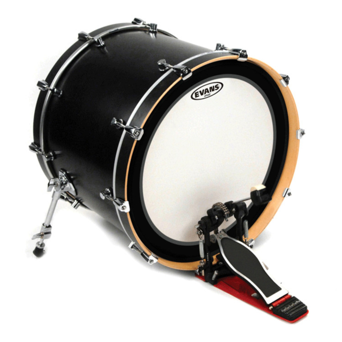 evans emad2 clear bass drum head 24 inch box opened at. Black Bedroom Furniture Sets. Home Design Ideas