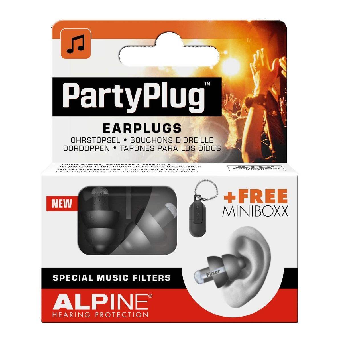 Image of Alpine PartyPlug Earplugs Black