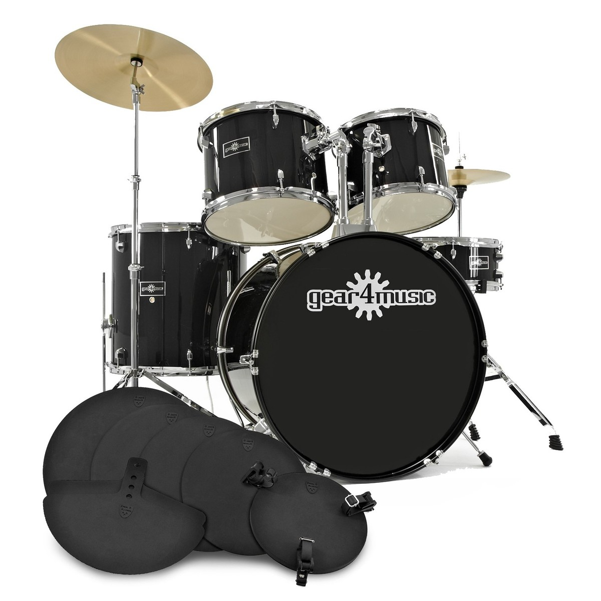 Image of GD-2 Drum Kit + Practice Pack Black
