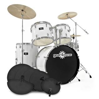 GD-7 Drum Kit + Pracitice Pack, Arctic White